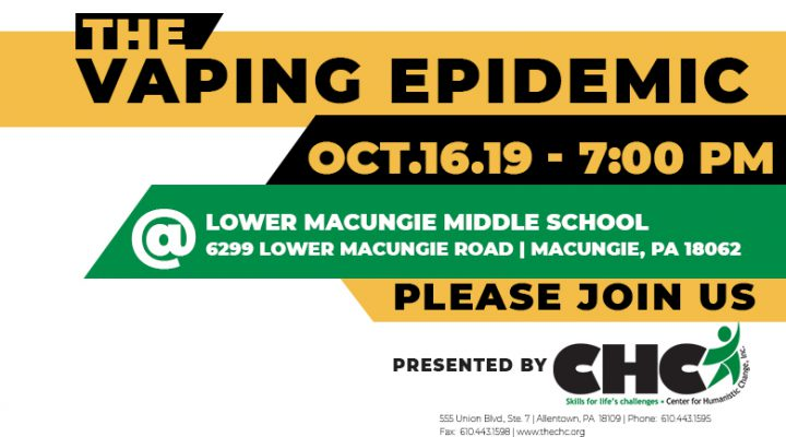 Vaping Presentation Scheduled for Parents on October 16th