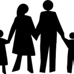 picture of family holding hands