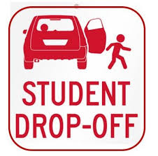 Picture of student getting dropped off