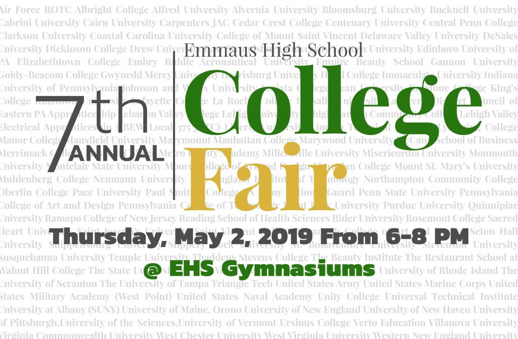 7th Annual College Fair Scheduled for May 2nd