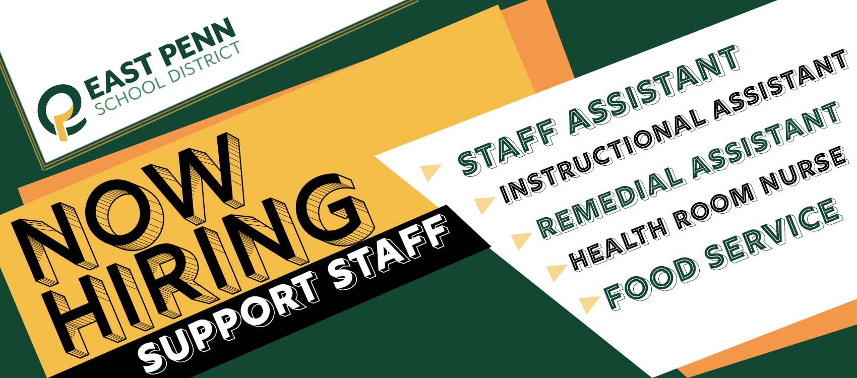 E.P.S.D. Now Hiring Support Staff