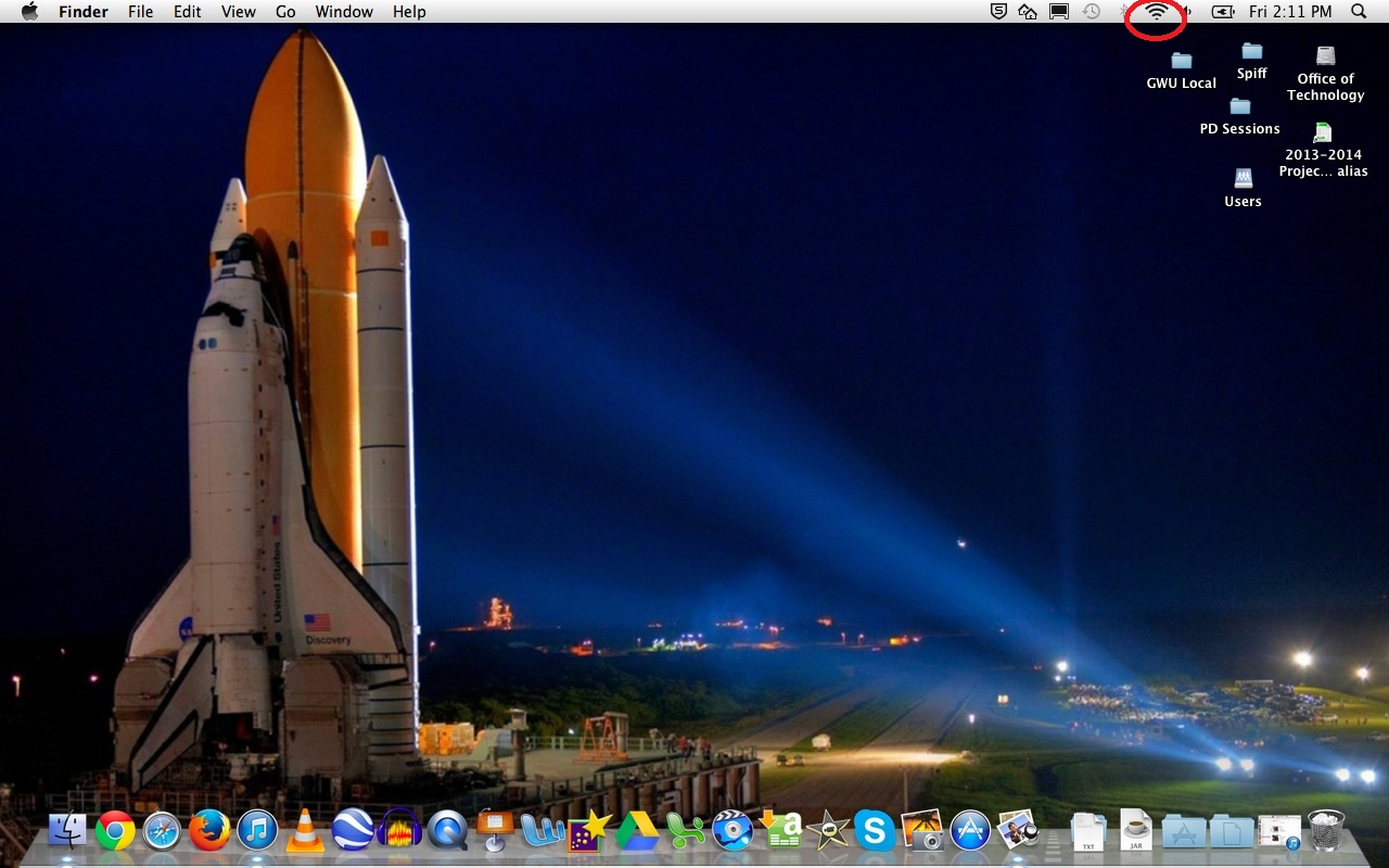 Apple Laptop: Click wireless icon on top bar picture