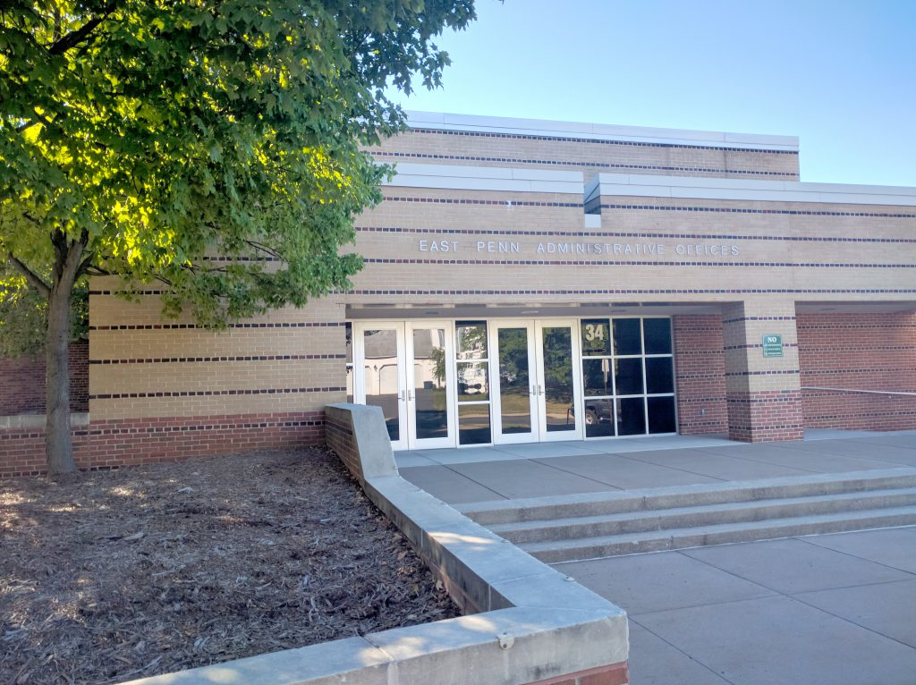 Front of district building