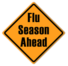 "Traffic Sign that says ""Flu Season Ahead"""