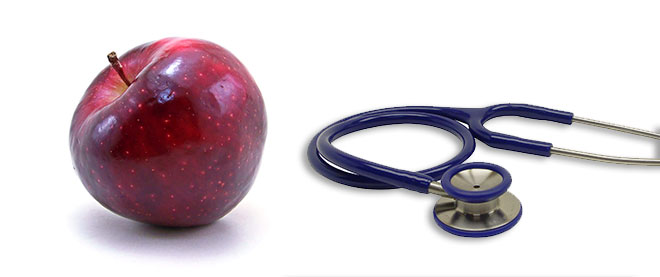 Picture of Apple and Stethoscope