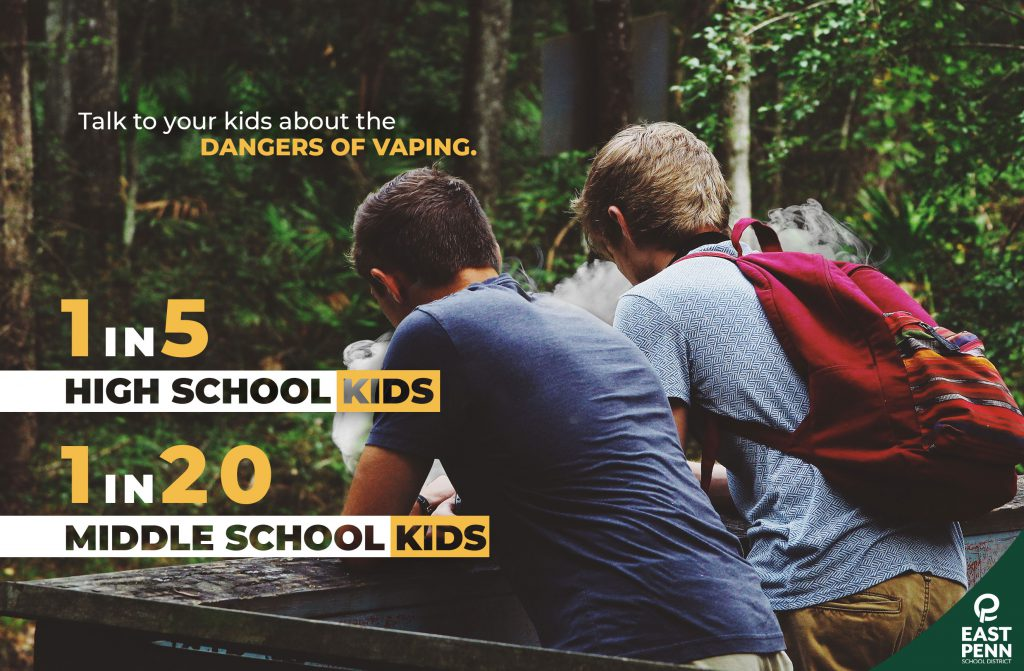 middle school students vaping