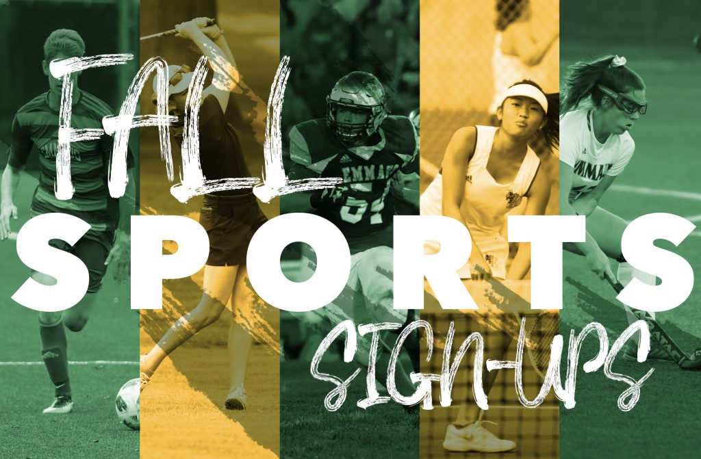 Fall Sports Signups banner