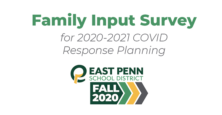 Family Input Survey for 2020-2021 COVID Response Planning Banner